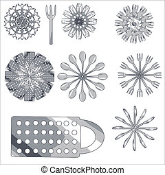 Set of decorative products