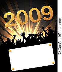 2009 party invitation placard
