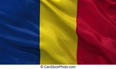Flag of Romania seamless loop - Flag of Romania gently...