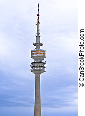 Olympic tower in Munich, Germany - The Olympiaturm has an...