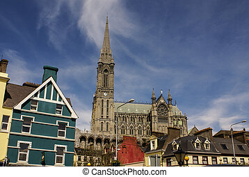 St Colmans neo-Gothic cathedral in Cobh, South Ireland