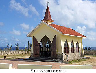 Chapel Alto Vista, Aruba, ABC Islands - Chapel Alto Vista,...