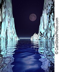 Surreal Moon and Ice