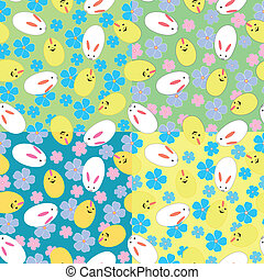 Easter pattern - Seamless vector pattern with Easter...