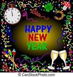 happy new year background card