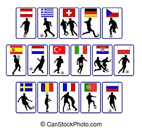 european soccer flags
