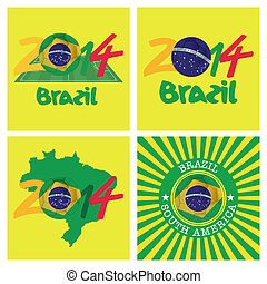 Brazil - abstract background with a brazil allusive objects