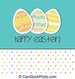 Happy Easter - abstract Happy easter background with special...