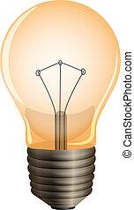 An orange bulb - Illustration of an orange bulb on a white...