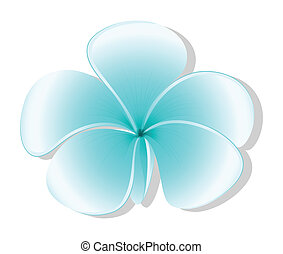 A light blue flower - Illustration of a light blue flower on...