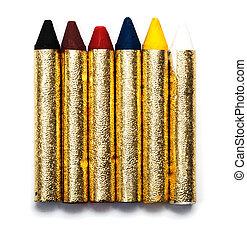 artístico, Color, Tiza, carneval, cara, Pintura