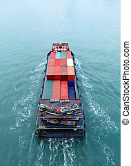 Cargo ship from top