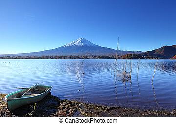 Lake kawaguchi and Fujisan