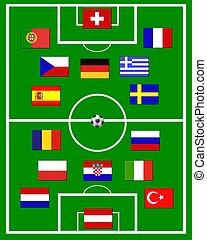 european soccer field