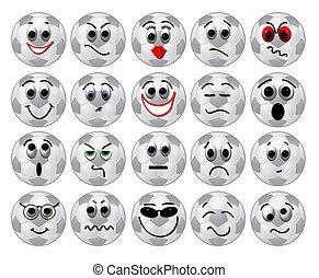 soccer ball faces smileys