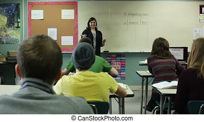 teaching a class - High school teacher, teaching a class