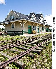 Historic Train Station - Historic train station in Stettler,...