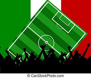 soccer fans italy