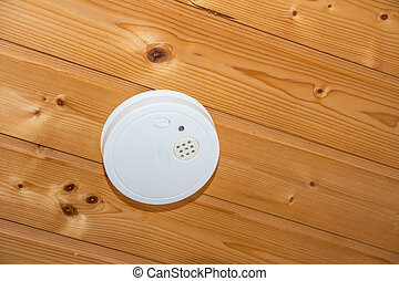 Smoke Detector - Fire safety with a smoke detector on a...