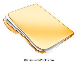 Orange Folder icon