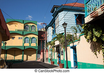 Flores, Guatemala - The island and city of Flores in the...
