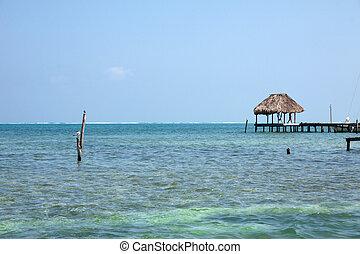 Caye Caulker, Belize - Docks in Caye Caulker, Belize