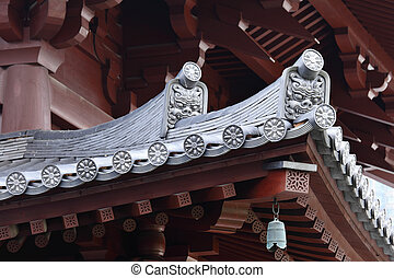 Temple roof eave