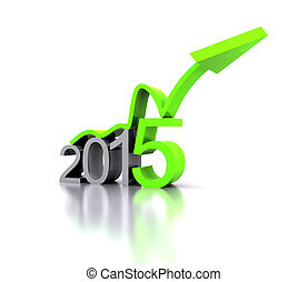 New Year 2015 - 3D illustration - a recovery in the New Year...