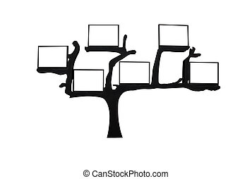 abstract tree with blank space for text isolated on white...