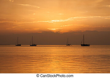 Caye Caulker, Belize - Sunset in Caye Caulker, Belize