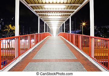 Footbridge in city