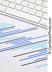 Gantt chart with keyboard