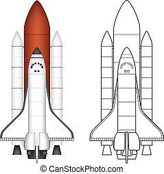espaço, lançadeira