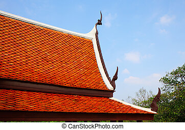 Roof eaves of temple