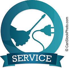Emblem of electricity service - design for repair...