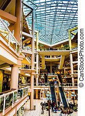 The interior of The Gallery, in the Inner Harbor of...