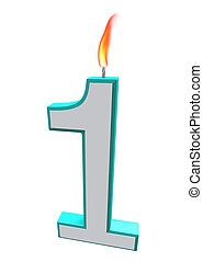 Number One Candle