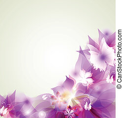 Abstract floral colorful background in pink