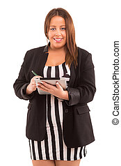 Large business woman - A Happy Large business woman -...