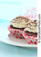 Low fat chocolate cupcakes - Fresh baked low fat chocolate...