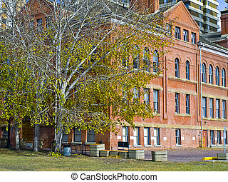 1920\'s School - A historic school in Edmonton, Alberta,...