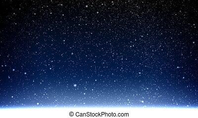 stjärnfall, Snö