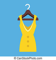 Vector Dress Hanging on Hanger Icon