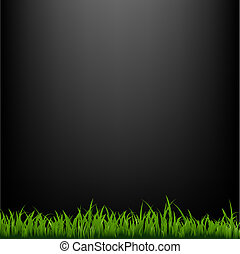Black Background With Grass