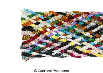 Strip woven cotton multicolored
