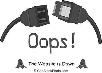 el, sitio web, Abajo