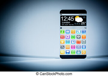 Smart phone with a transparent display. - Futuristic Smart...