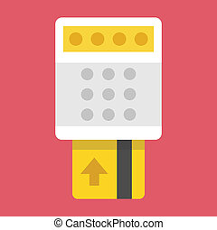 Vector Insert Credit Card into Term