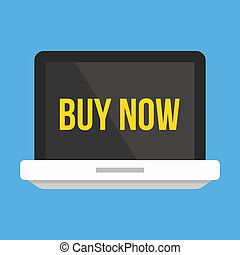 Vector Laptop Buy Now Icon