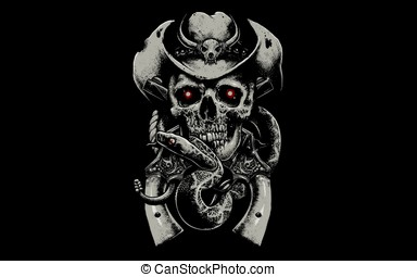 Rysunek, czaszka